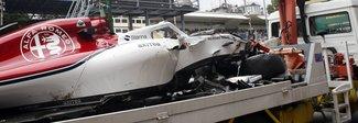 Gp Monza, incidente choc: Ericsson illeso. Prove sospese
