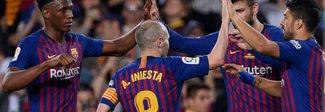 Barcellona, Iniesta saluta: ovazione di 11 minuti al Camp Nou