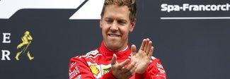 GP del Belgio, la Ferrari di Vettel trionfa sulla mitica pista di Spa. Hamilton 2°