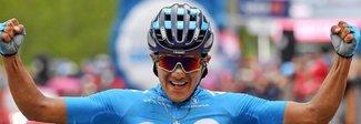 Giro d'Italia, Carapaz a Courmayeur conquista tappa e maglia rosa. Nibali terzo