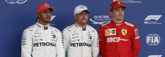 Gp Silverstone: Bottas in pole, Hamilton completa prima fila Mercedes. 3° Ferrari Leclerc, sesto Vettel