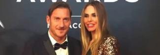 Francesco Totti e Ilary Blasi affiatati ai Laureus Sports Awards: e il Pupone viene premiato