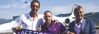 Fiorentina, festa grande per Ribery:  «Amo Firenze, mi manda Toni»