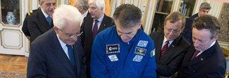 """L'astronauta Paolo Nespoli """"interrogato"""" dagli studenti delle scuole romane e poi in visita al presidente Mattarella"""