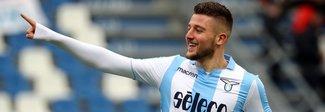 Lazio: niente Nazionale, Milinkovic torna a Formello (e abbraccia Mendes)