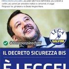 Matteo Salvini esulta per il Decreto Sicurezza bis approvato: «Grazie italiani e Beata Vergine Maria»