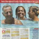 Paolo Bonolis e Sonia Bruganelli con i figli Davide e Adele a Formentera (Nuovo)