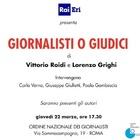 """Rai Eri: presentazione di """"Giornalisti o giudici"""", libro di Vittorio Roidi e Lorenzo Grighi"""