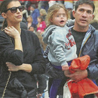 Elisabetta Canalis tra famiglia e lavoro: passeggiata col marito Brian Perri e la figlia Skyler Eva a Roma