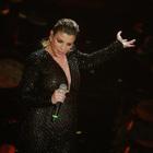 Emma Marrone sul palco dell'Ariston (foto Davide Fracassi/Ag.Toiati)