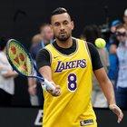 Australian Open, Kyrgios in campo con la maglia di Kobe Bryant