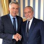 «Benvenuto mister Ancelotti», l'annuncio ufficiale di De Laurentiis