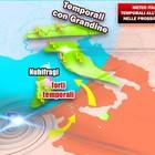 Meteo, temporali e maltempo in mezza Italia. Ma nel weekend torna il sole