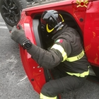 Le immagini dell'incidente di via Posatora