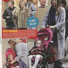 Ilary Blasi a passeggio con i figli Cristian, Chanel e Isabel a Roma (Vero)