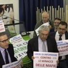 Libertà di stampa, manifestazione dei giornalisti al Pan