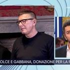 Dolce e Gabbana a La Vita in Diretta: «Milano vuota è uno choc, ma non creiamo panico»