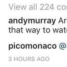 Murray scherza sulla sconfitta dell'Argentina e Monaco non la prende bene
