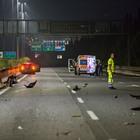 Schianto sul Gra tra due auto: quattro feriti, due gravi