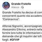 Coronavirus, Alfonso Signorini nella casa del Grande Fratello Vip per informare i concorrenti