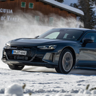 Al volante della Audi di serie più potente della storia, la RS e-tron Gt da 646 cv. La prova sul ghiaccio del lago di Misurina