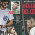 Eleonora Pedron, la figlia Ines e la Iena Nicolò Devitiis a Milano