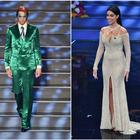 Sanremo 2020, pagelle look terza serata. Georgina 6.5, il terzo cambio è il migliore. Achille Lauro-Bowie 7