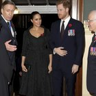 Kate, William, Meghan e Harry alla Royal Hall di Londra