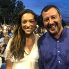 Matteo Salvini con Francesca Verdini a Forte dei Marmi