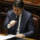 Conte al Senato: «Aiuti per 50 miliardi, serve uno choc. Sintonia con Draghi»