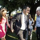 Independence Day all'ambasciata Usa: c'è Salvini con Francesca, nessun saluto a Di Maio