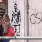 Ostia, riappare il murales: i tifosi si scatenano Video