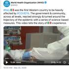 Virus, l'omaggio dell'Oms all'Italia in un video