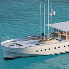 Ispirato da Renzo Piano, ecco lo yacht Zattera 24m: largo 7,20 metri, propulsione ibrida e costruzione in legno