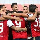 Il Cagliari supera un buon Crotone 4-2, Di Francesco può sorridere