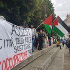 Protesta palestinese contro Israele alla partenza di Assisi