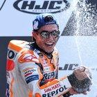 Gp Francia, Marquez cala il tris a Le Mans. Petrucci e Rossi sul podio, Dovizioso cade