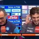 Napoli, siparietto Sarri-Verdi «In bocca al lupo per lo scudetto»