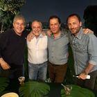 La festa di De Laurentiis davanti alla tv:«Sono felice»
