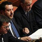 Gregoretti, Matteo Salvini in Senato per il voto sul processo: banchi del governo vuoti