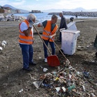 Napoli, ripulita la spiaggia della Rotonda Diaz dopo il maltempo