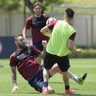 De Rossi saluta Totti: «Un onore giocare con te. Potrò raccontarlo a tutti»