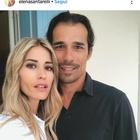 Elena Santarelli e l'emozionante messaggio d'amore per il marito Bernardo Corradi, le amiche vip si commuovono