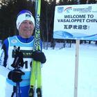 A 80 anni record sugli sci in Cina: è quarto al mondo per le Granfondo