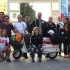 Si conclude a Ischia il giro del mondo in Lambretta di Francesca e Filippo