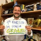 Europee, Matteo Salvini: «Una sola parola: GRAZIE Italia!». Festa per i risultati delle Europee