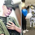 Strazio per l'addio a Federico, morto di meningite a 15 anni: palloncini e striscioni
