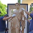 Ercolano, la statua di Demetra parte per il Getty Museum di Los Angeles