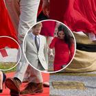 Meghan futura mamma distratta: dimentica le etichette al vestito durante il viaggio con Harry