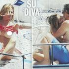 Eleonora Pedron innamorata, topless nella mini crociera